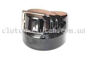 Ремень для брюк LMi 35 мм эко кожа черный лакированный