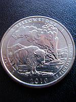 """25 центов США 2010 года, """"Йеллоустонский национальный парк"""""""