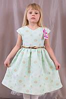 Детское изумительно красивое выпускное платье c оборкой из фатина