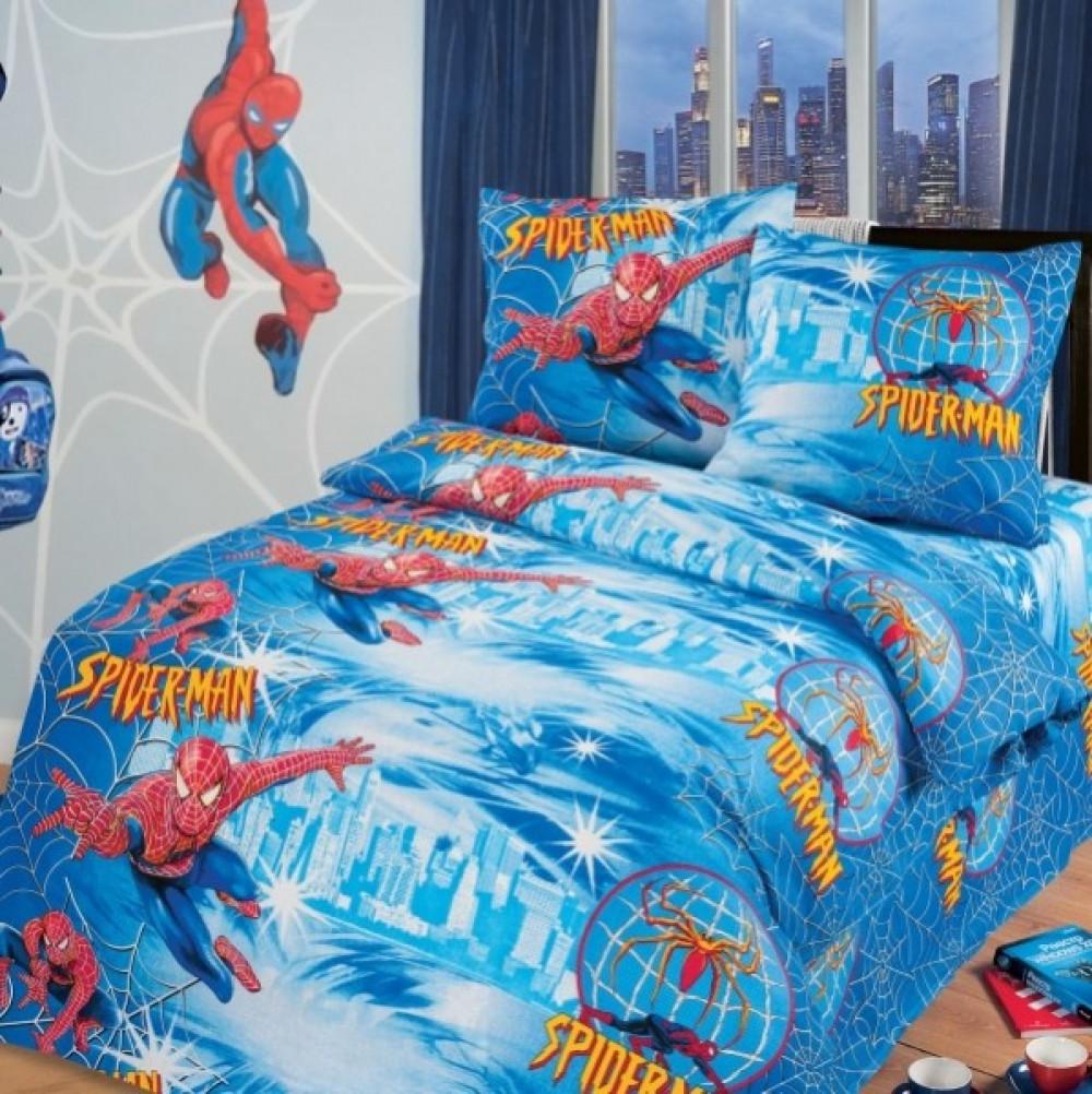 Постельное белье в кроватку Человек Паук  (бязь ГОСТ)