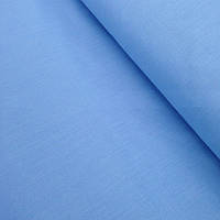 Однотонная бязь голубого цвета №100