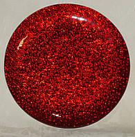 Подставка красная металлик стекло  20 см, фото 1