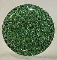 Подставка зеленая металлик стекло  20 см