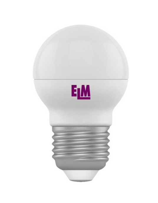 Лампа светодиодная D45 5W Е27 4000К 400 Lm ELM