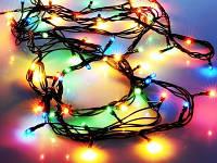 Гирлянда электрическая новогодняя, 100 лампочек, 7 метров, RGB