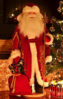 Дед Мороз большой золотой 72 см 0553, фото 1