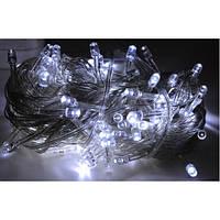 Белая новогодняя светодиодная гирлянда 200 огней, 16 метров, LED, white