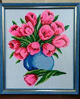 """Вышитая крестиком картина """"Очарование тюльпанов"""""""