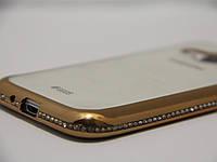 Чехол для смартфона Samsung Galaxy J120H J1 2016 золото камень, фото 1