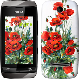 "Чехол на Nokia Asha 305 / 306 Маки ""523u-248"""