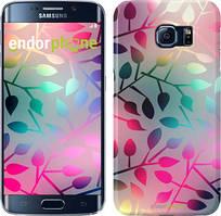 "Чехол на Samsung Galaxy S6 Edge G925F Листья ""2235c-83"""