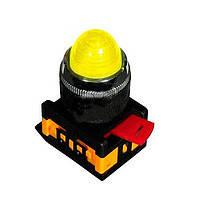 Лампа AL-22 сигнальная d22мм желтый неон/240В цилиндр ИЭК