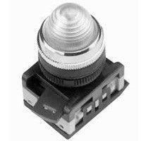Лампа AL-22 сигнальная d22мм прозрач. неон/240В цилиндр ИЭК