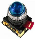 Лампа AL-22 сигнальная d22мм синий неон/240В цилиндр ИЭК