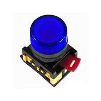Лампа AL-22TE сигнальная d22мм синий неон/240В цилиндр ИЭК