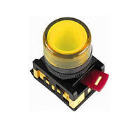 Лампа AL-22TE сигнальная d22мм желтый неон/240В цилиндр ИЭК