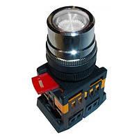 Кнопка ABLF-22 прозрачный d22мм неон/240В 1з+1р ИЭК