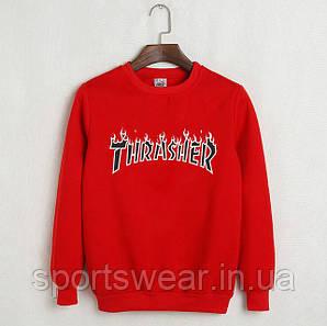 "Свитшот ""Thrasher Magazine""  ( Красный ) """" В стиле Thrasher """""