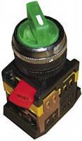Переключатель АNСLR-22-3  на 3 фикс.полож.зеленый неон/240В I-O-II 1з+1р ИЭК