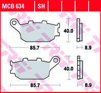 Тормозные колодки TRW / LUCAS MCB634