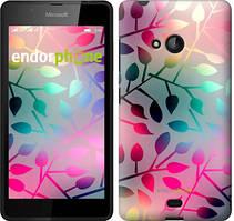 "Чехол на Microsoft Lumia 540 Dual SIM Листья ""2235u-246"""