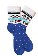 Махровые женские носки с новогодним рисунком ТМ Дюна
