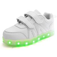 Белые LED кроссовки для детей