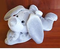 Игрушка-грелка Плюшевый Зайка 30 см