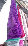 Меховой плед травка фиолетовый , фото 2