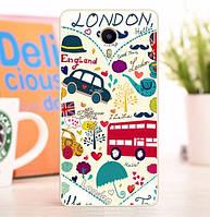 Силиконовый чехол бампер для Meizu M3 Max с картинкой London