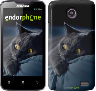 "Чехол на Lenovo A656 Дымчатый кот ""825u-289"""