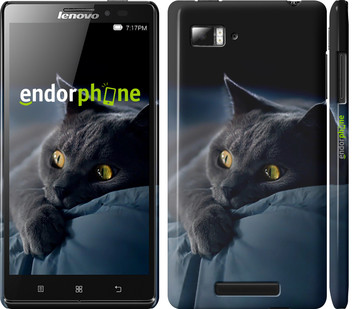 """Чехол на Lenovo Vibe C A2020 Дымчатый кот """"825u-283"""""""