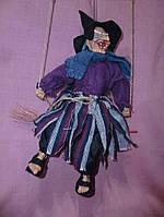 Кукла Баба-яга на кочели - механическая звуковая кукла 52-33сантиметров