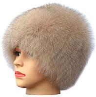 Женская песцовая шапка паричок цвет бежевый