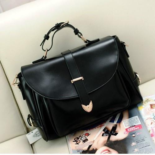 Женская винтажная сумка Почтальон черная - PrettyLady.com.ua в Каменском eec9c9f32a334