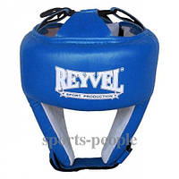Шлем боксерский/для бокса Reyvel, сверху шнуровка, винил, разн. цвета, L