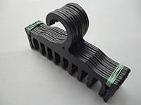 Плечики вешалки тремпеля WBR черного цвета, длина 17,5 см