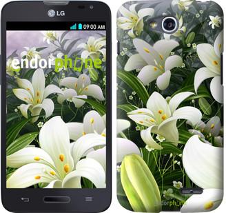 """Чехол на LG L80 Dual D380 Белые лилии """"2686u-332"""""""