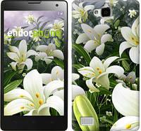 """Чехол на Huawei Honor 3C Белые лилии """"2686u-307"""""""