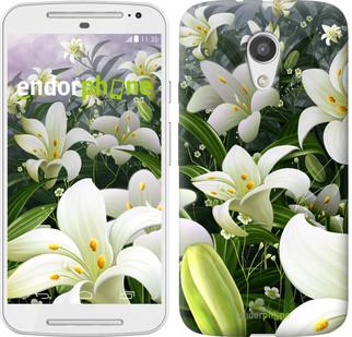 """Чехол на Motorola Moto G2 Белые лилии """"2686u-330"""""""
