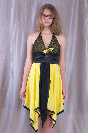 Оригінальна жіноча молодіжна вечірня сукня, фото 2