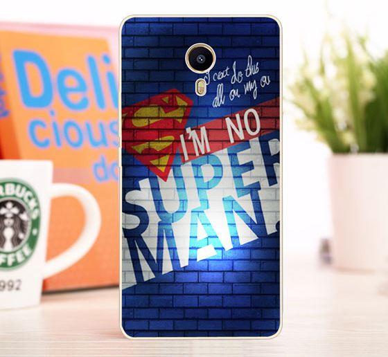 Оригинальный чехол панель накладка для Meizu M3 Max с картинкой Superman