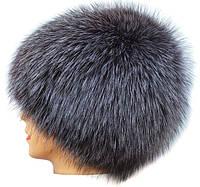 Женская шапка из блюфроста паричок серебро