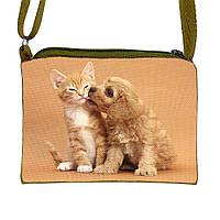 Милая детская сумочка через плечо с принтом