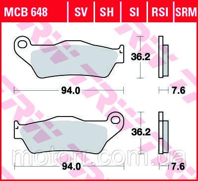 Тормозные колодки TRW / LUCAS MCB648