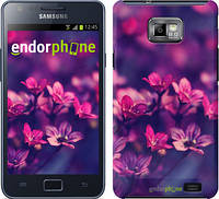"Чехол на Samsung Galaxy S2 i9100 Пурпурные цветы ""2719c-14"""