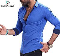 Мужская рубашка голубого цвета, фото 1