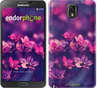 """Чехол на Samsung Galaxy Note 3 N9000 Пурпурные цветы """"2719c-29"""""""