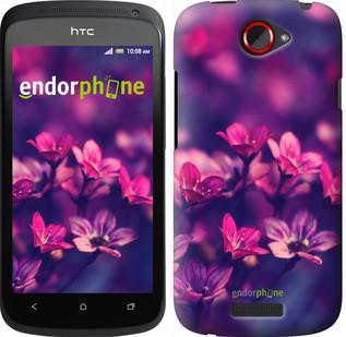"""Чехол на HTC One S z560e Пурпурные цветы """"2719u-226"""""""