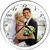 Часы с фото круглые стеклянные
